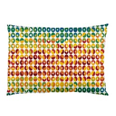 Weather Blue Orange Green Yellow Circle Triangle Pillow Case (Two Sides)