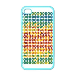Weather Blue Orange Green Yellow Circle Triangle Apple iPhone 4 Case (Color)