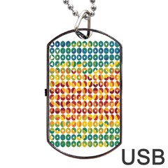 Weather Blue Orange Green Yellow Circle Triangle Dog Tag USB Flash (Two Sides)