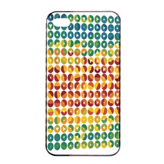 Weather Blue Orange Green Yellow Circle Triangle Apple iPhone 4/4s Seamless Case (Black)