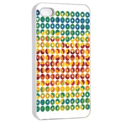 Weather Blue Orange Green Yellow Circle Triangle Apple iPhone 4/4s Seamless Case (White)