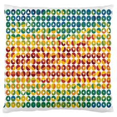 Weather Blue Orange Green Yellow Circle Triangle Large Cushion Case (Two Sides)