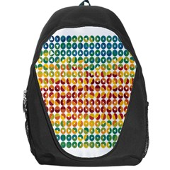 Weather Blue Orange Green Yellow Circle Triangle Backpack Bag