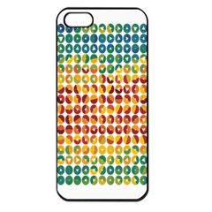 Weather Blue Orange Green Yellow Circle Triangle Apple iPhone 5 Seamless Case (Black)
