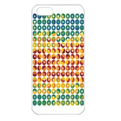 Weather Blue Orange Green Yellow Circle Triangle Apple iPhone 5 Seamless Case (White)