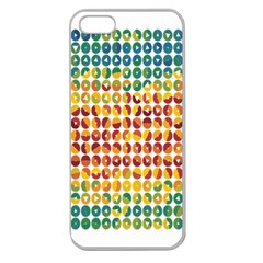 Weather Blue Orange Green Yellow Circle Triangle Apple Seamless iPhone 5 Case (Clear)