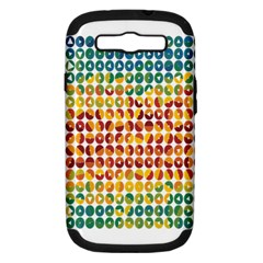 Weather Blue Orange Green Yellow Circle Triangle Samsung Galaxy S III Hardshell Case (PC+Silicone)