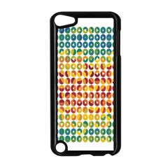 Weather Blue Orange Green Yellow Circle Triangle Apple iPod Touch 5 Case (Black)