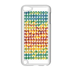 Weather Blue Orange Green Yellow Circle Triangle Apple iPod Touch 5 Case (White)