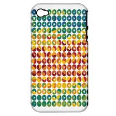 Weather Blue Orange Green Yellow Circle Triangle Apple iPhone 4/4S Hardshell Case (PC+Silicone)