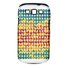Weather Blue Orange Green Yellow Circle Triangle Samsung Galaxy S III Classic Hardshell Case (PC+Silicone)
