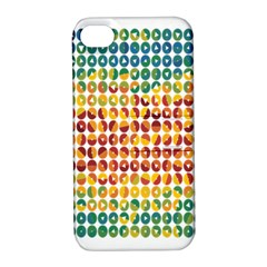 Weather Blue Orange Green Yellow Circle Triangle Apple Iphone 4/4s Hardshell Case With Stand by Alisyart