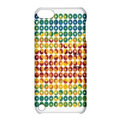 Weather Blue Orange Green Yellow Circle Triangle Apple iPod Touch 5 Hardshell Case with Stand