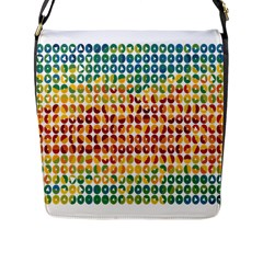 Weather Blue Orange Green Yellow Circle Triangle Flap Messenger Bag (L)