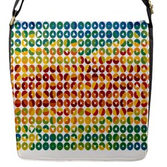 Weather Blue Orange Green Yellow Circle Triangle Flap Messenger Bag (S)