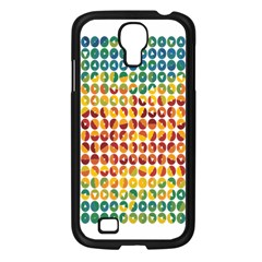 Weather Blue Orange Green Yellow Circle Triangle Samsung Galaxy S4 I9500/ I9505 Case (Black)