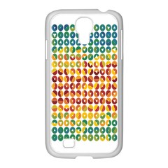 Weather Blue Orange Green Yellow Circle Triangle Samsung GALAXY S4 I9500/ I9505 Case (White)