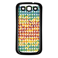 Weather Blue Orange Green Yellow Circle Triangle Samsung Galaxy S3 Back Case (Black)
