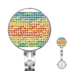 Weather Blue Orange Green Yellow Circle Triangle Stainless Steel Nurses Watch by Alisyart
