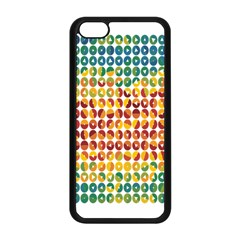 Weather Blue Orange Green Yellow Circle Triangle Apple Iphone 5c Seamless Case (black) by Alisyart
