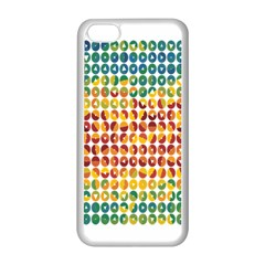 Weather Blue Orange Green Yellow Circle Triangle Apple iPhone 5C Seamless Case (White)
