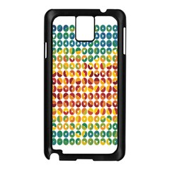 Weather Blue Orange Green Yellow Circle Triangle Samsung Galaxy Note 3 N9005 Case (Black)