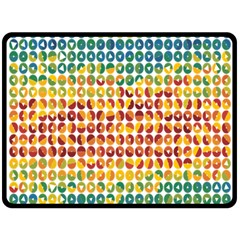 Weather Blue Orange Green Yellow Circle Triangle Double Sided Fleece Blanket (Large)