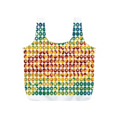 Weather Blue Orange Green Yellow Circle Triangle Full Print Recycle Bags (S)