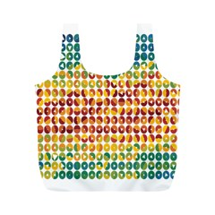 Weather Blue Orange Green Yellow Circle Triangle Full Print Recycle Bags (M)