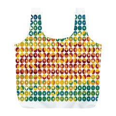 Weather Blue Orange Green Yellow Circle Triangle Full Print Recycle Bags (L)