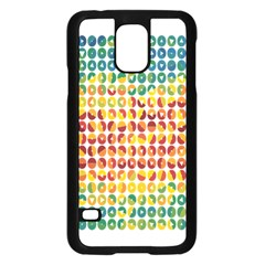 Weather Blue Orange Green Yellow Circle Triangle Samsung Galaxy S5 Case (Black)