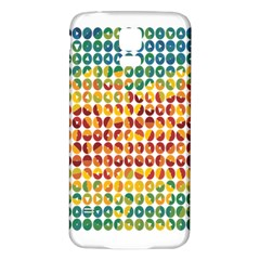 Weather Blue Orange Green Yellow Circle Triangle Samsung Galaxy S5 Back Case (White)