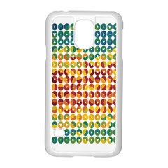 Weather Blue Orange Green Yellow Circle Triangle Samsung Galaxy S5 Case (white)