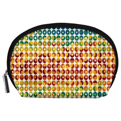 Weather Blue Orange Green Yellow Circle Triangle Accessory Pouches (Large)