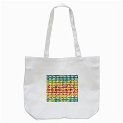 Weather Blue Orange Green Yellow Circle Triangle Tote Bag (White)
