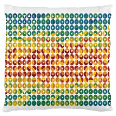 Weather Blue Orange Green Yellow Circle Triangle Large Flano Cushion Case (One Side)