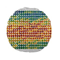 Weather Blue Orange Green Yellow Circle Triangle Standard 15  Premium Flano Round Cushions