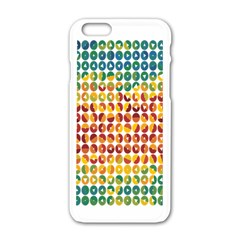 Weather Blue Orange Green Yellow Circle Triangle Apple iPhone 6/6S White Enamel Case
