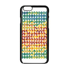 Weather Blue Orange Green Yellow Circle Triangle Apple iPhone 6/6S Black Enamel Case