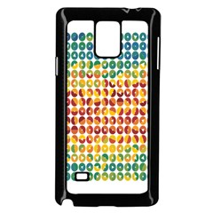 Weather Blue Orange Green Yellow Circle Triangle Samsung Galaxy Note 4 Case (Black)