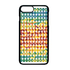 Weather Blue Orange Green Yellow Circle Triangle Apple iPhone 7 Plus Seamless Case (Black)