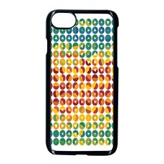 Weather Blue Orange Green Yellow Circle Triangle Apple iPhone 7 Seamless Case (Black)