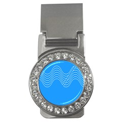 Waves Blue Sea Water Money Clips (cz)