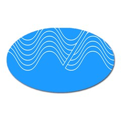 Waves Blue Sea Water Oval Magnet