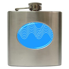Waves Blue Sea Water Hip Flask (6 Oz) by Alisyart