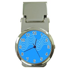Waves Blue Sea Water Money Clip Watches by Alisyart
