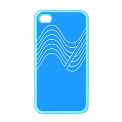 Waves Blue Sea Water Apple Iphone 4 Case (color)