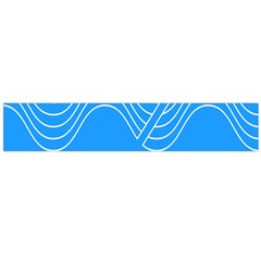 Waves Blue Sea Water Flano Scarf (large)