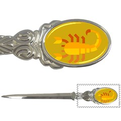 Animals Scorpio Zodiac Orange Yellow Letter Openers