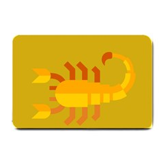 Animals Scorpio Zodiac Orange Yellow Small Doormat